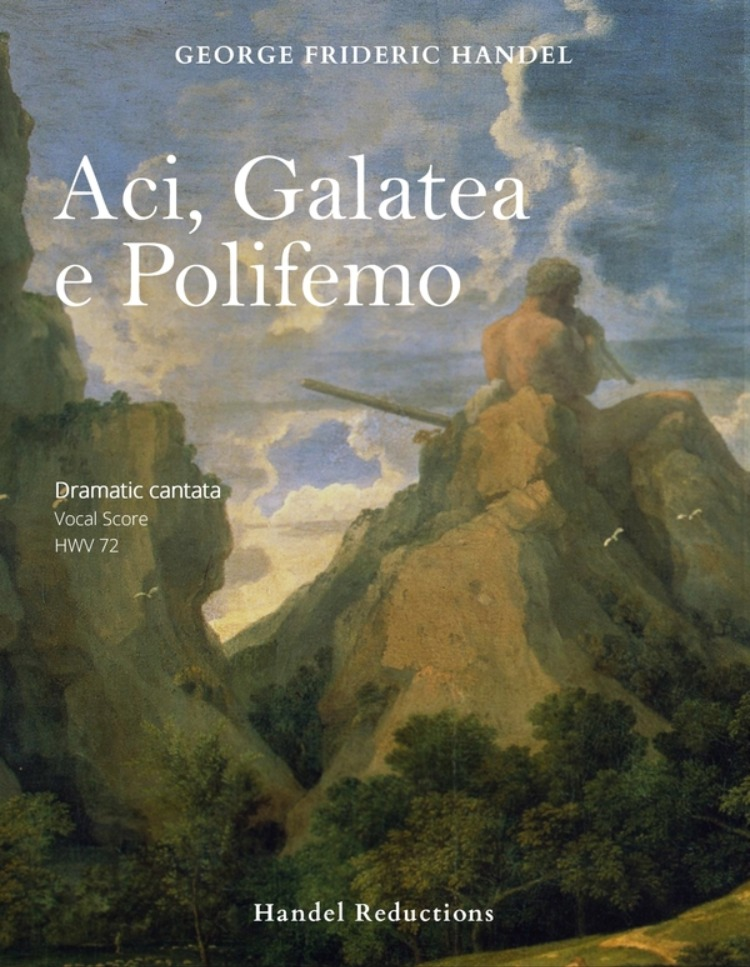 The cover of the first vocal score of Handel's Aci, Galatea e Polifemo