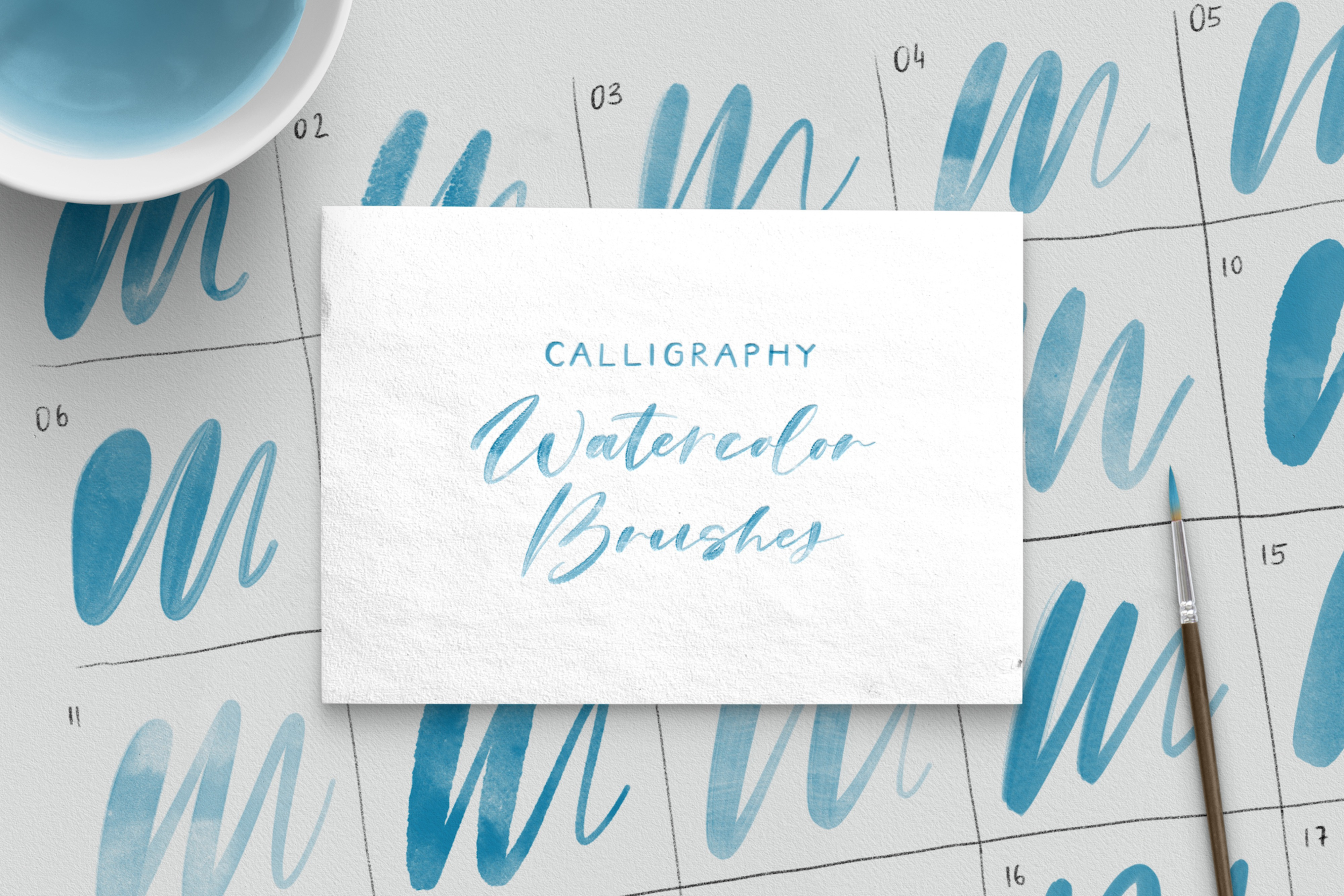 Procreate Watercolor Brushes for Calligraphy