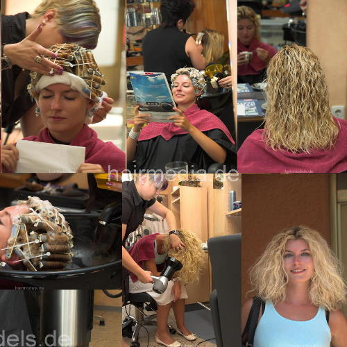 Conny blonde lady first perm