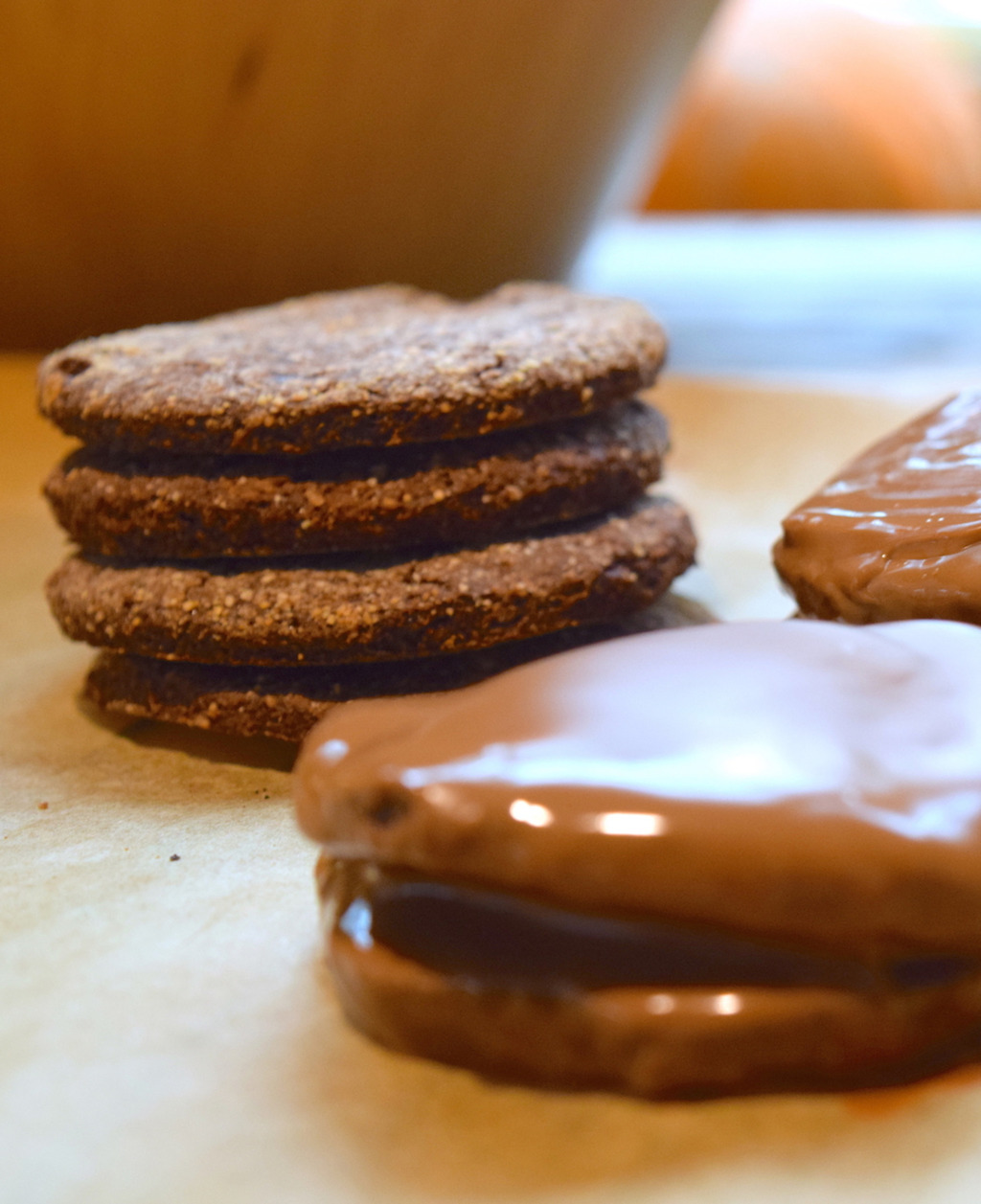 Simple eggless, gluten free and dairy free biscuits