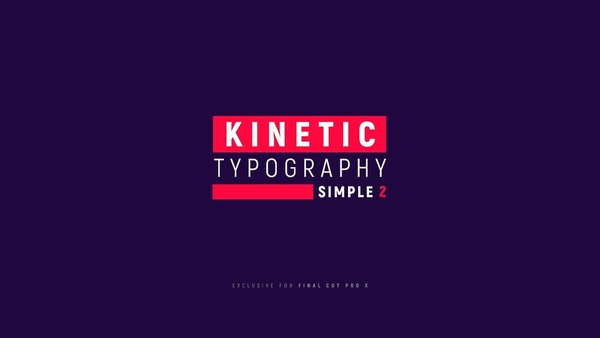 Kinetic Typography Simple 2