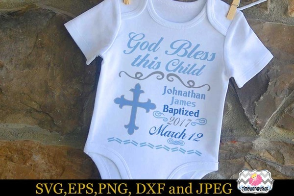 SVG Templates- Baby Stats and Baptism
