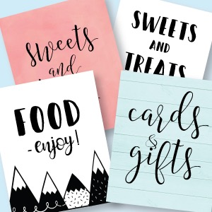 Printable Party Signs