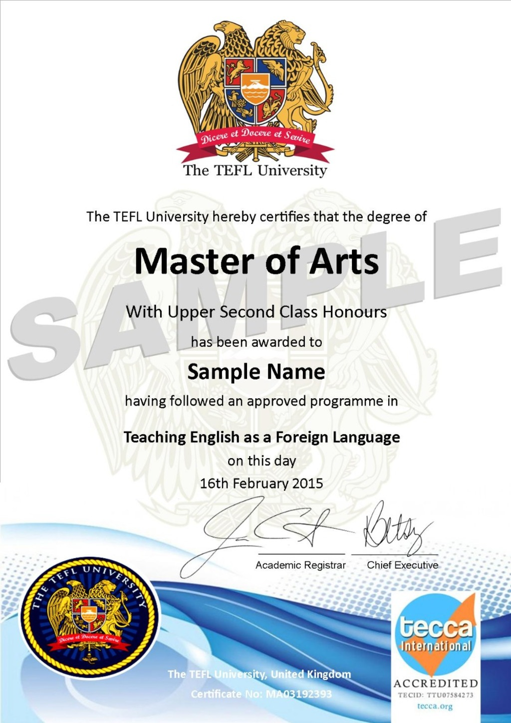 Buy Here Pay Here Ma >> Master of Arts Degree Course Fee - The TEFL University