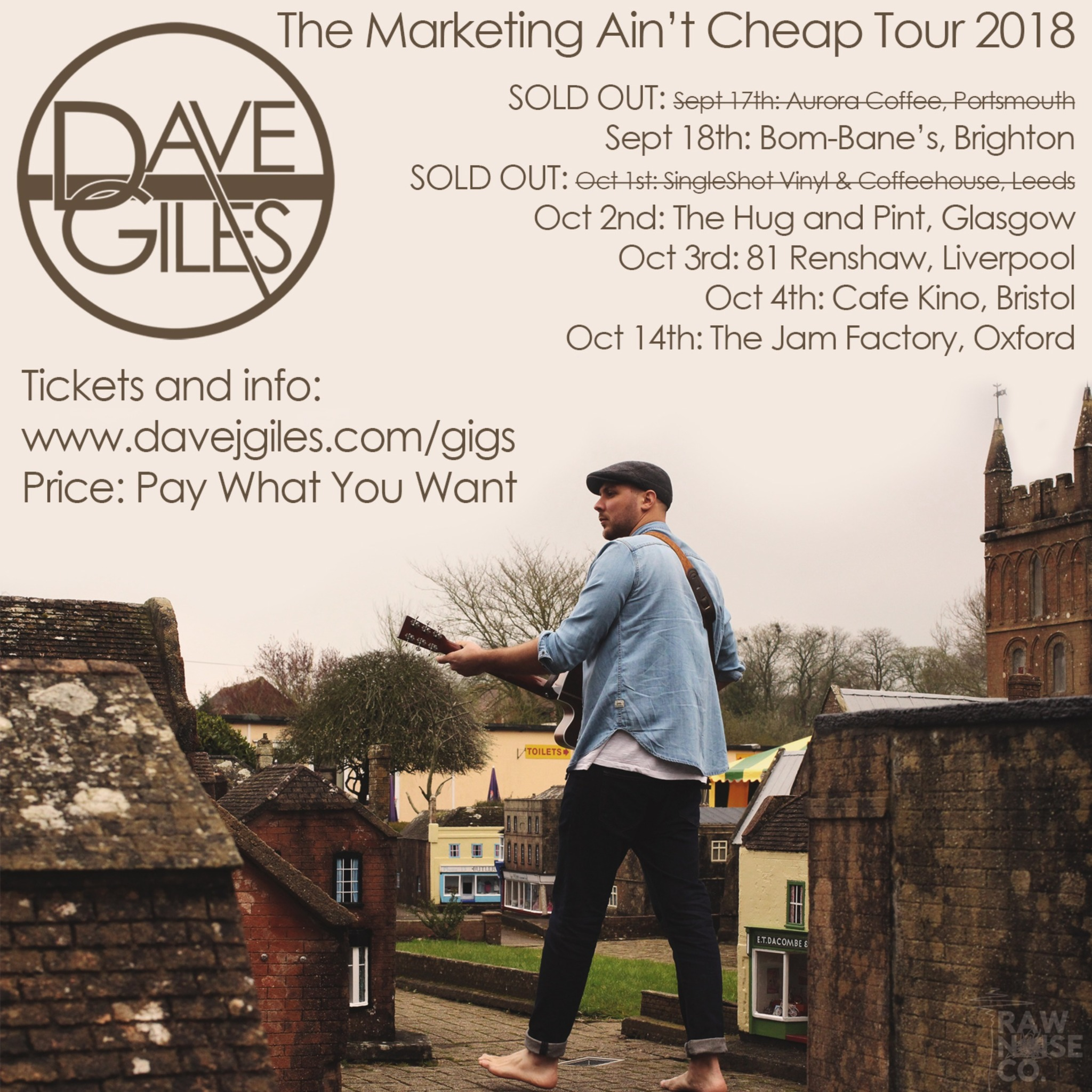 Eticket for the marketing aint cheap tour autumn 2018 dave giles ccuart Images
