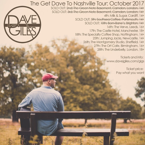 The Get Dave To Nashville Tour - October 2017 - eTicket