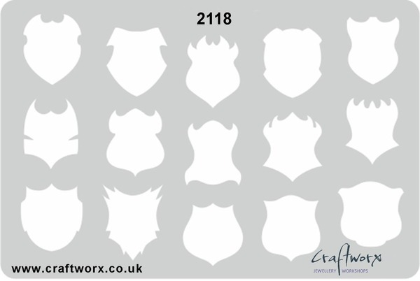 Craftworx Metal Clay Template #2118