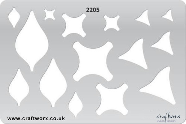 Craftworx Metal Clay Template #2205