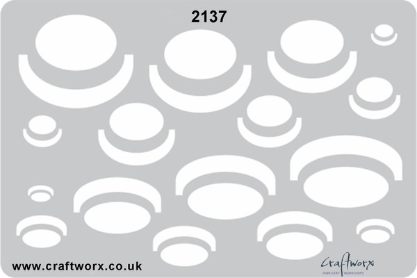Craftworx Metal Clay Template #2137