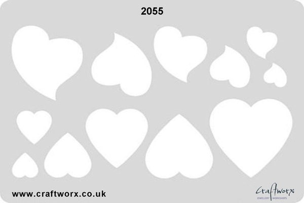 Craftworx Metal Clay Template #2055