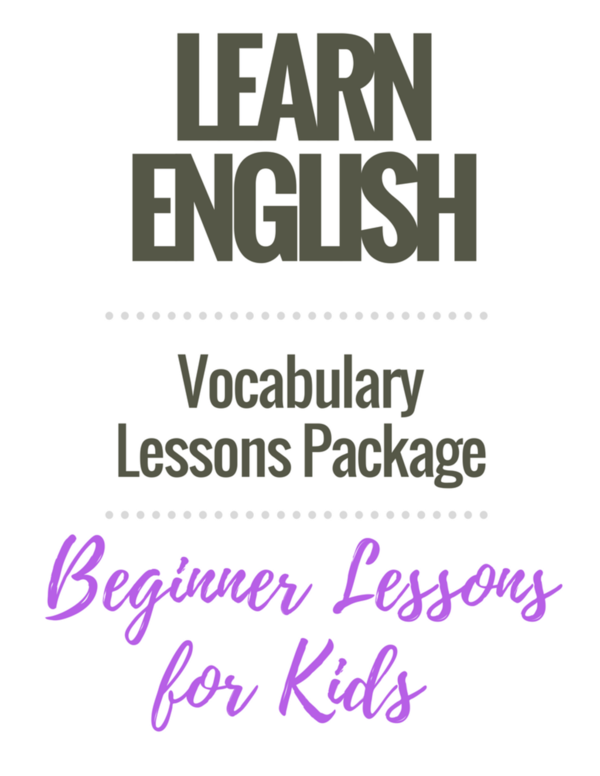 Beginner English Worksheets: Vocabulary Package
