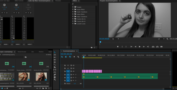 Service: Video Editing ($2/min of raw footage)