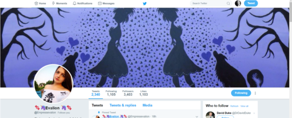 Twitter Banner: Traditional Lady with Wolf painting