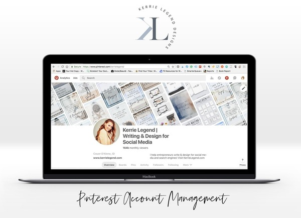 Pinterest Account Management - Monthly