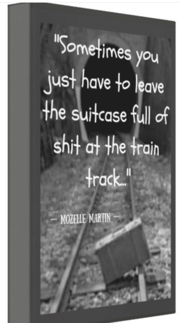 Suitcase on the Train Quote Canvas Art