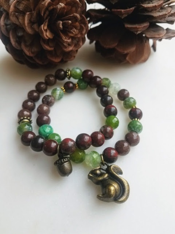 Squirrel & Acorn Forest Stack