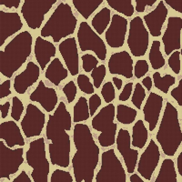 Giraffe Print Wild Animal Cross Stitch Pattern