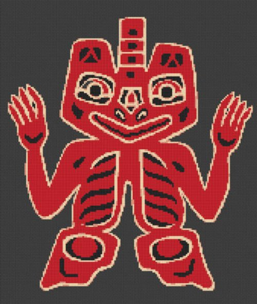 HAIDA ART Blanket Design Cross Stitch Pattern