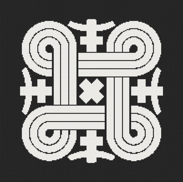 Hannunvaakuna Finnish Good Luck Symbol Cross Stitch Pattern