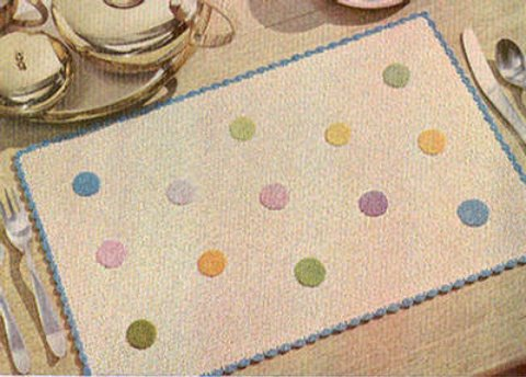 Coin Dots Vintage Crochet Place Mat Pattern
