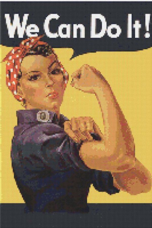 ROSIE the RIVETER WWII Cross Stitch Pattern