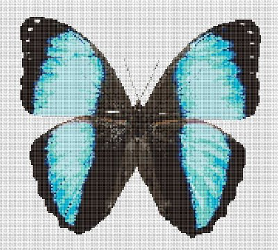 Butterfly Cross Stitch Pattern #5 Turquoise