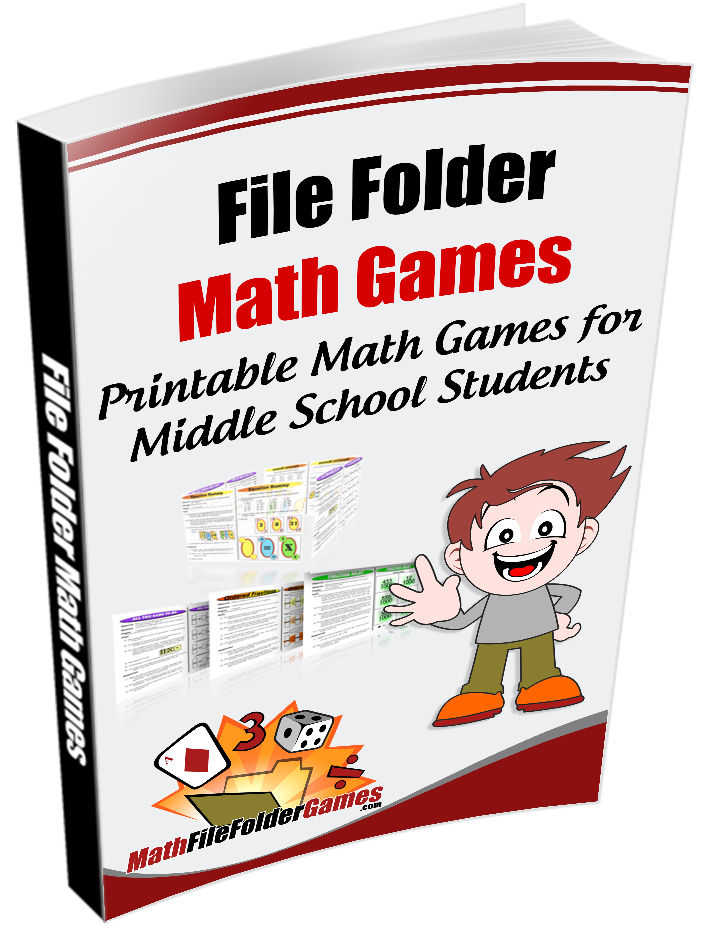 42 printable math games for upper elementary and middles school ...