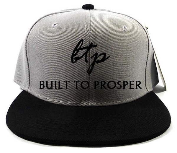BTP Men Gray and Black Snapback