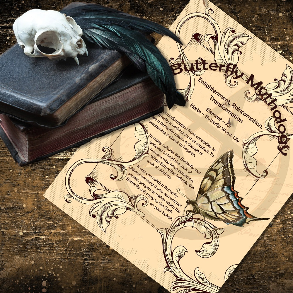 BUTTERFLY MYTHS and CORRESPONDENCES - Morgana Magick Spell