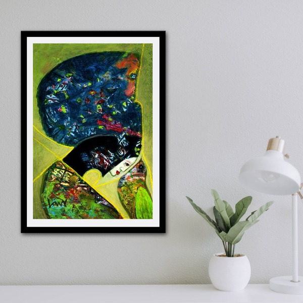 Bird N Girl Available Now as a Fine Art Print
