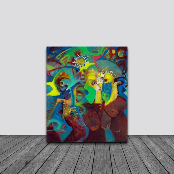 Neo-Abstract Expressionism-Canvas Painting