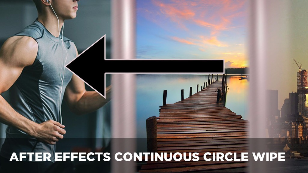 Continuous Circle Wipe + FlyThrough Transition After Effects Project File -  Josh Enobakhare