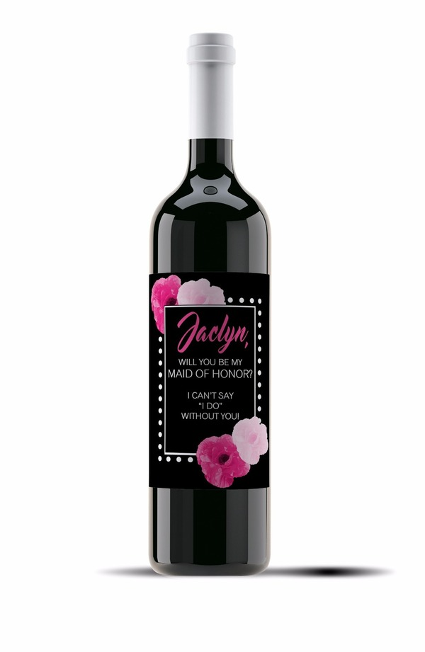 Wine Liquor Label Templates Posh Pixel Boutique - Bridesmaid wine label template