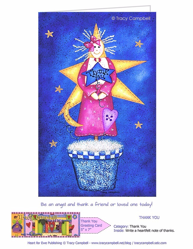 A THANK YOU ANGEL GREETING CARD
