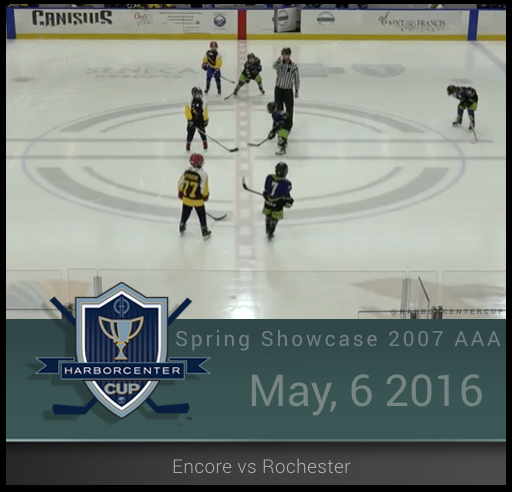 5/6/16 - Spring Showcase 2007 AAA - Encore vs Rochester River Monsters