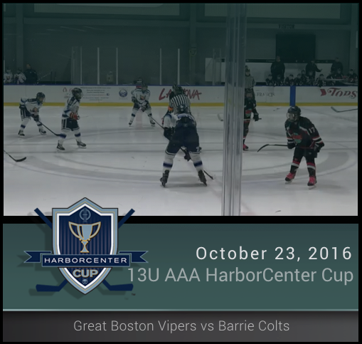 13U AAA Greater Boston Boston Vipers vs Barrie Colts