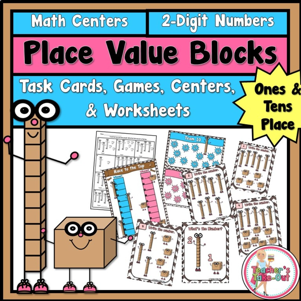 Place Value Blocks to the Tens Place - Teacher\'s Take-Out