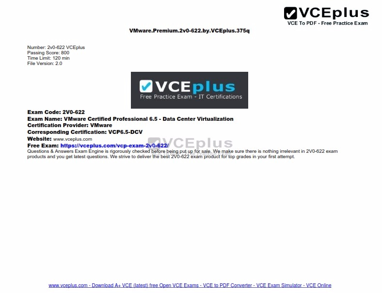 vmware 6.5 training pdf
