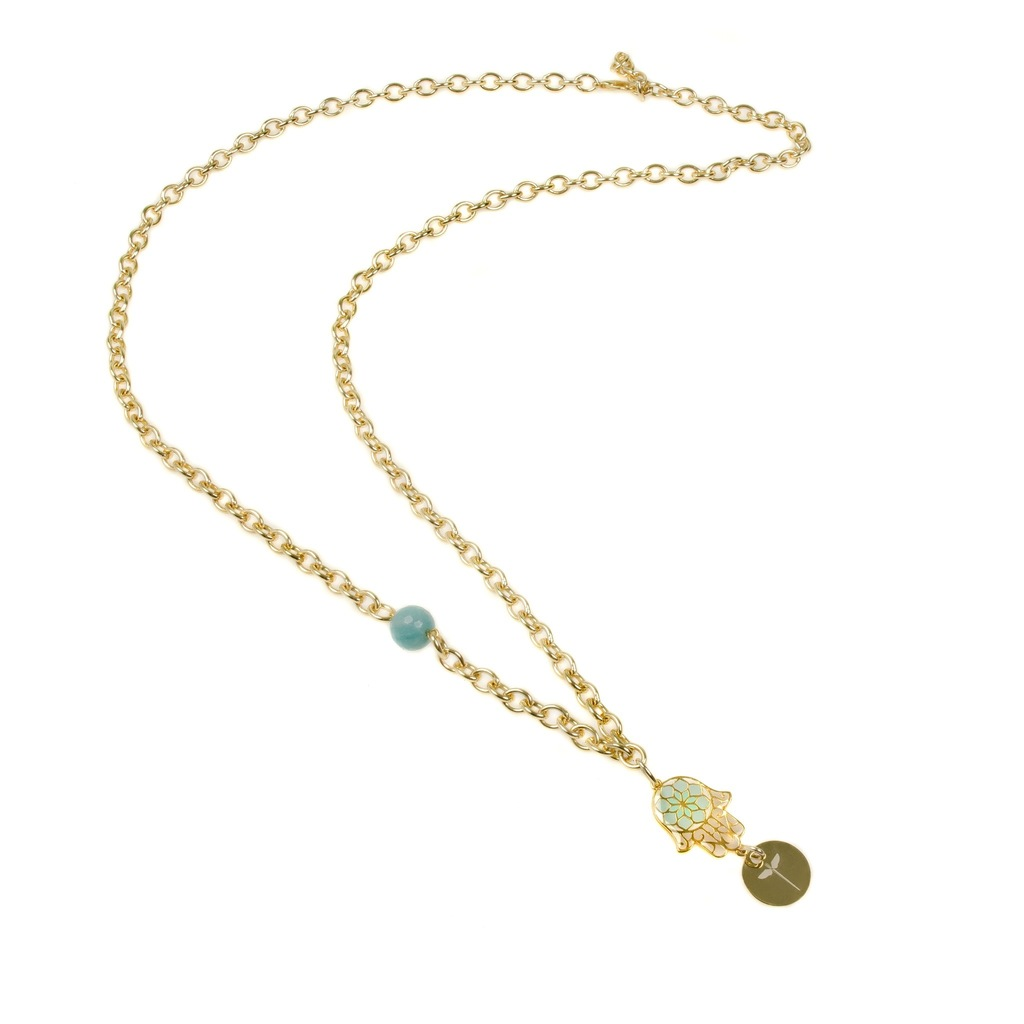 amours collier necklace corfu chrysoprase internationales accueil en