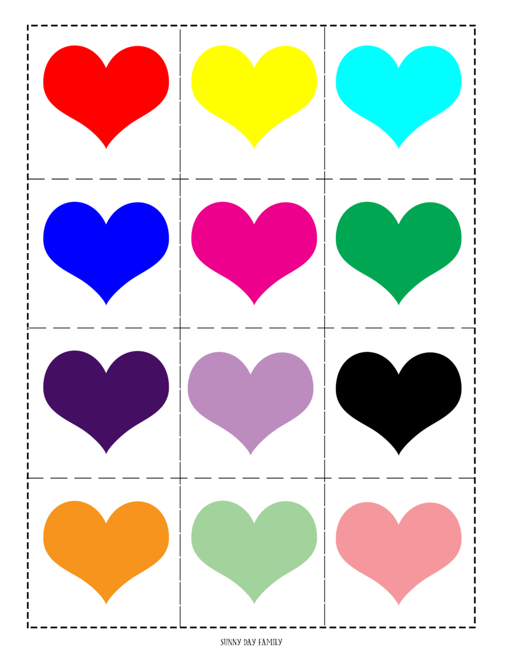 free printable valentine matching game for kids sunny day family