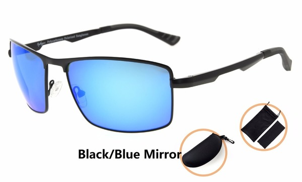 def756193 Eyekepper Polycarbonate Lens Polarized Sunglasses With Metal Frame Spring  Hinges PCPG802-Mirror Lens