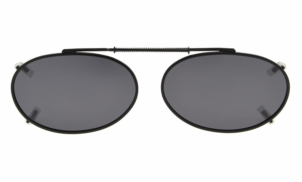 1135c83fa5 Eyekepper Metal Oval Frame Rim Polarized Lens Clip On Sunglasses 49x30mm C80