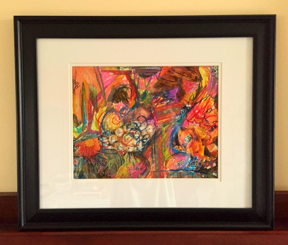 Framed Pearl Market Drawing
