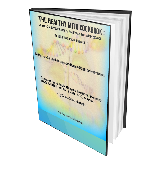 PRINTED softcover book The Healthy Mito CookBook by SnowDropHerbals