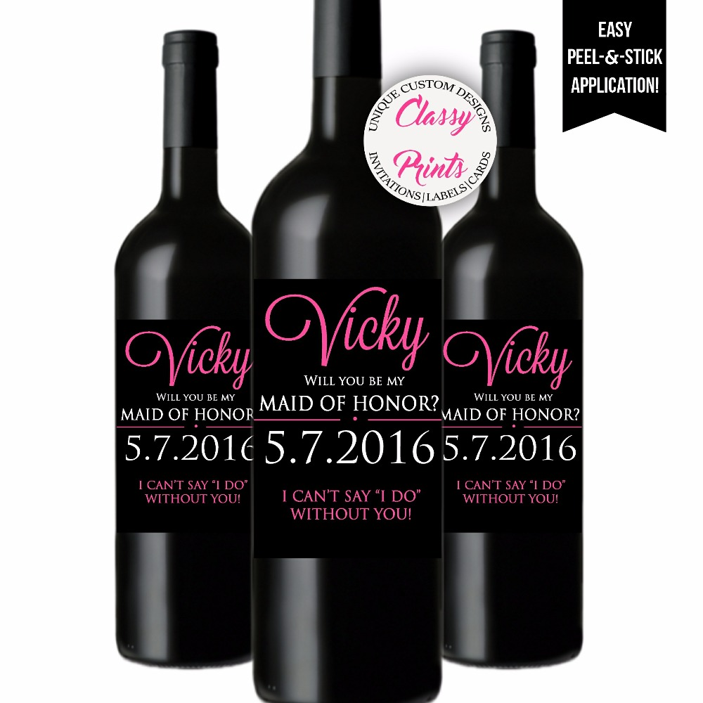 will you be my bridesmaid wine label template - bridesmaid wine labels will you be my bridesmaid posh