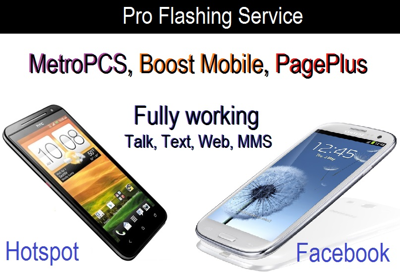 Flash service for Metro PCS, Boost Mobile, & Page Plus - All done over  internet - Teck's Lab